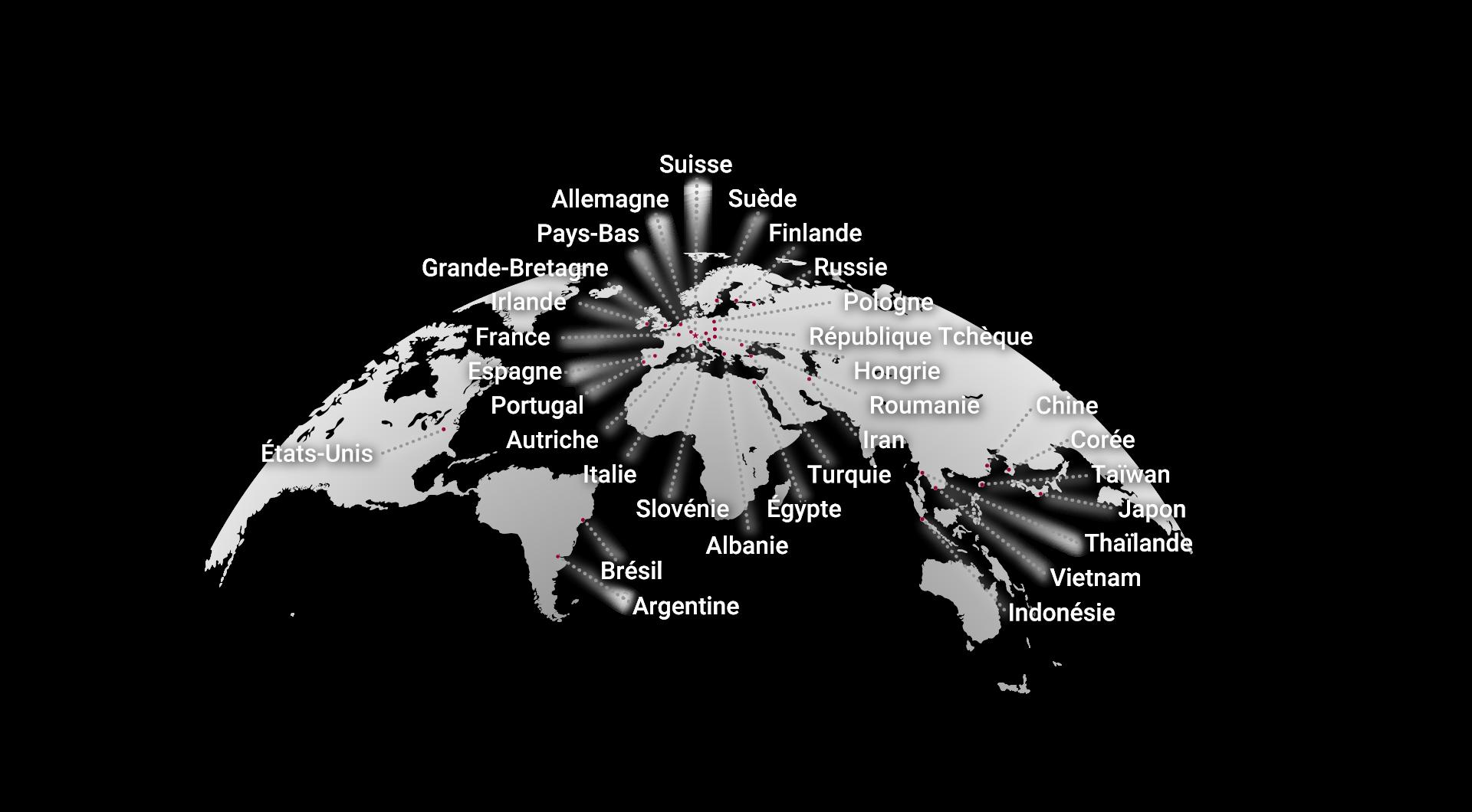 Le GroupeSTAR dans le monde